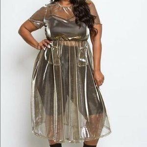 Gold Overlay Dress